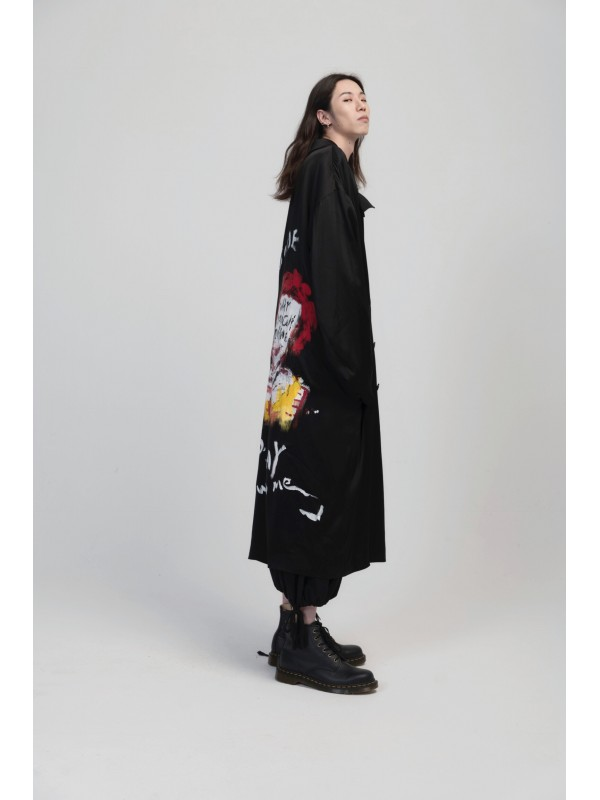 Hand-Painted MD Silk Coat