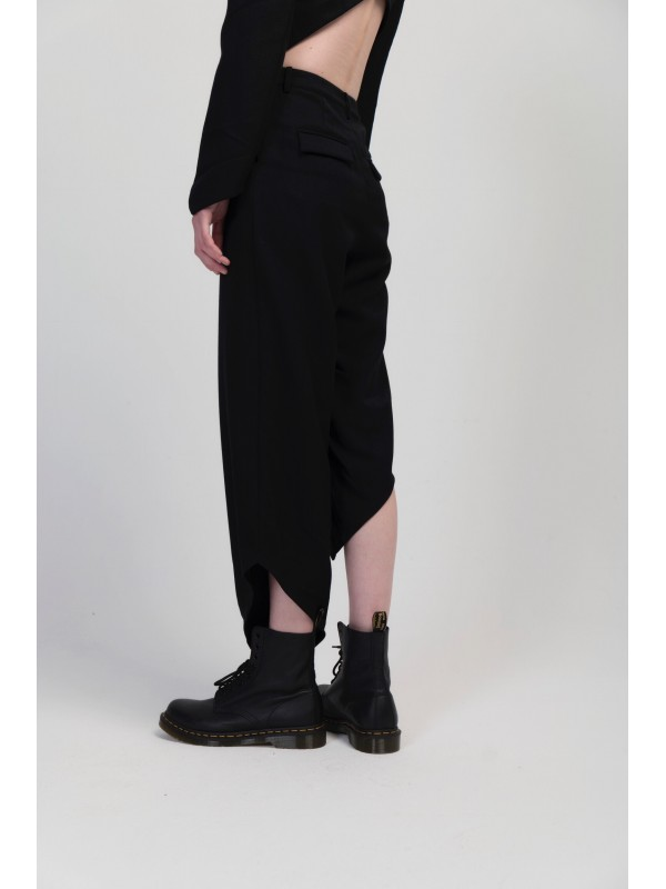 Women's Oblique Cutting Straight Pant
